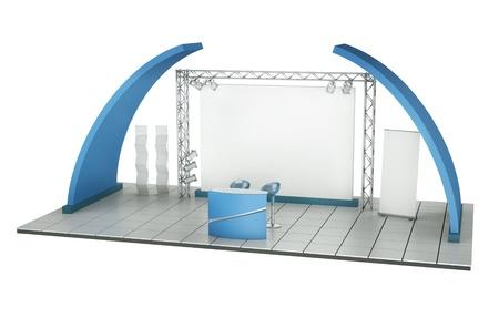 beursvloer: Handel tentoonstelling Stand