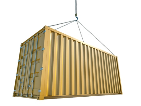 airborne vehicle: Shipping Container Stock Photo