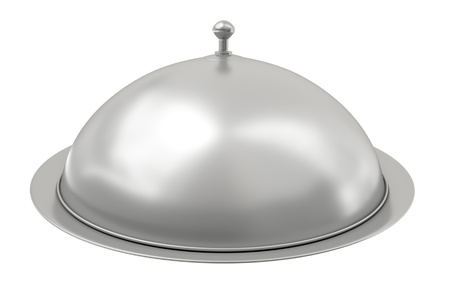 covered: Silver catering tray