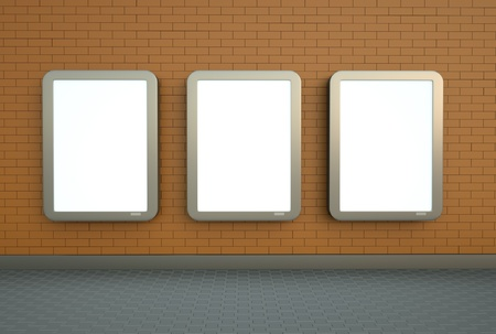 citylight: Three wall citylight banners
