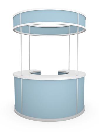 Rounded trade stand. 3D rendered illustration. illustration