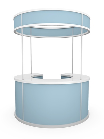 rounded: Rounded trade stand. 3D rendered illustration.