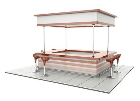 Bistro counter or tradeshow tasting stand Standard-Bild