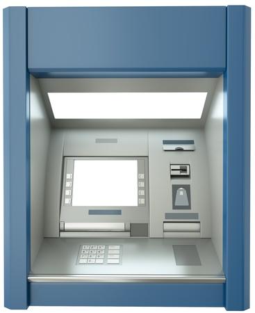 ATM-machine met leeg scherm. 3D render.