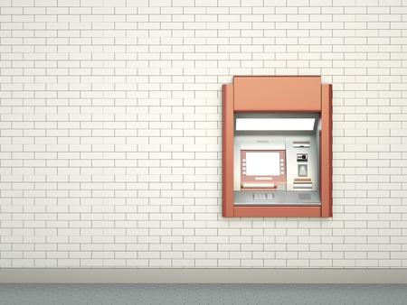 Cashpoint, 3D render photo