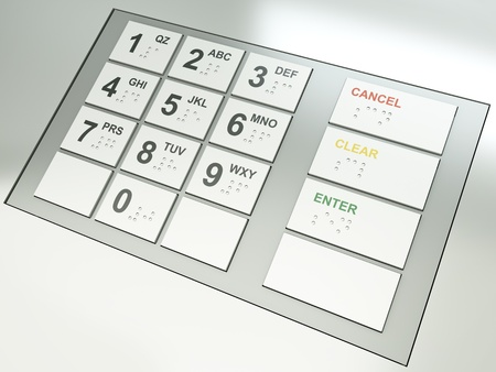 ATM keypad. 3D render. Stock Photo - 9583668