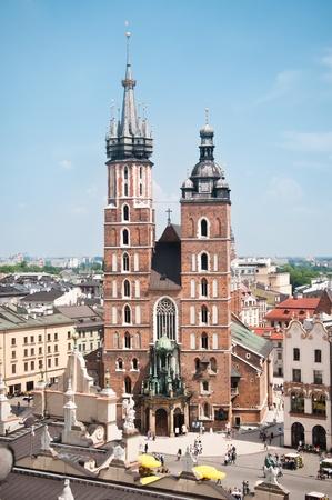 St. Mary's Church, famous landmark in Krakow, Poland. Stock Photo - 9641040