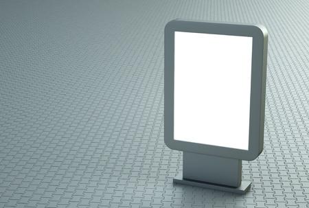citylight: Blank outdoor citylight banner. 3D render Stock Photo