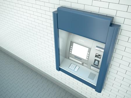 Cash dispenser. 3d rendered image. photo