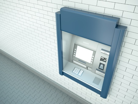 cashpoint: Cash dispenser. 3d rendered image.