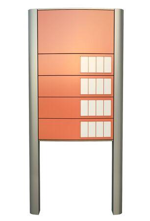 hoogspanningsmasten: Blank tankstation teken. 3D render.