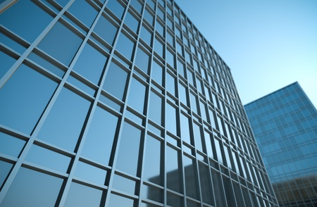 High office buildings, 3D render.
