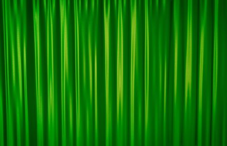 drape: Green theater curtain background. 3D rendered illustration. Stock Photo