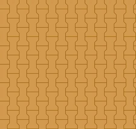 Seamless orange pavement pattern. 3D render. Stock Photo