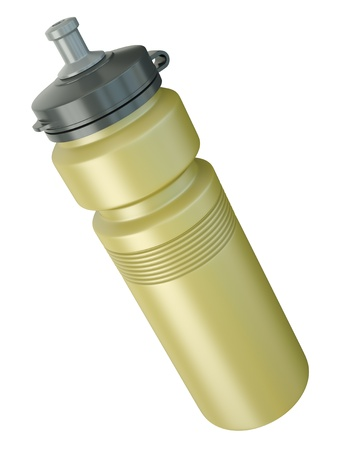 Yellow sports water bottle. 3D render. Stock Photo - 10621894