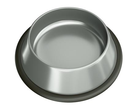 Empty animal food bowl. 3D rendered illustration. Stock Photo