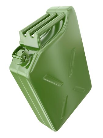 gallon: Green fuel container isolated on white background, 3D render