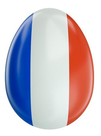 French flag Easter egg Stock Photo - 11493086