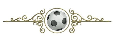 Football themed ornament. 3D rendered illustration Stock Illustration - 12416809