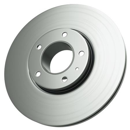 brake disc: Car brake disc isolated on white background  3D render