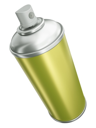 Spray can isolated on white background. 3D rendered image photo