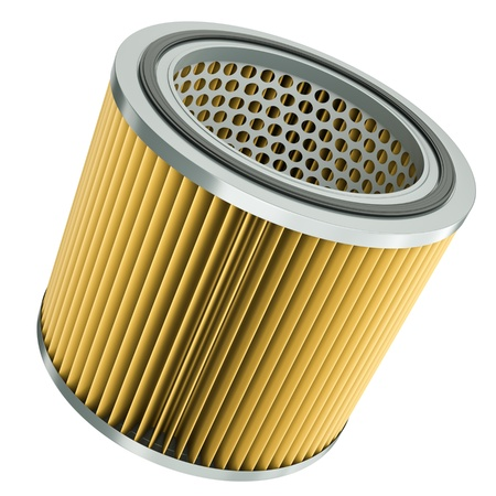 Car engine air filter. 3D render photo