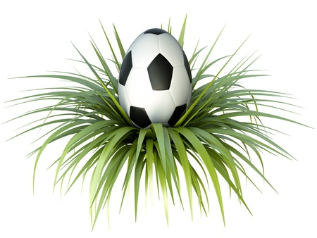 Soccer/football themed easter egg. 3D render Stock Photo - 12905329