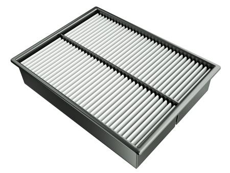new filter: Automotive air filter. 3D render