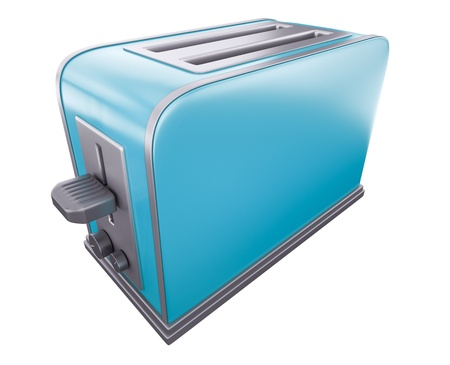 toaster: Blue toaster  3D rendered image    Stock Photo