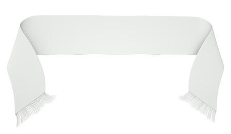 shawl: Blank voetbal sjaal geïsoleerd op een witte achtergrond. 3D render