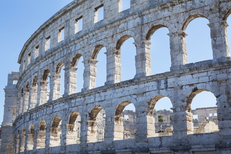 Pula Arena, historic Roman amphitheatre and famous landmark in Pula, Croatia. Stock Photo - 16050018