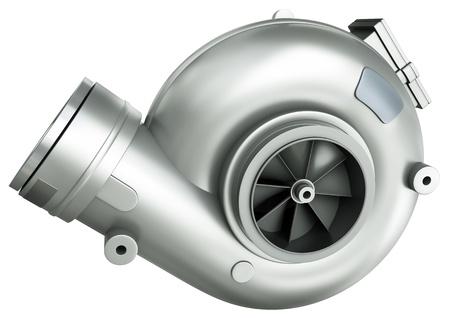 Automotive Turbolader, 3D render.