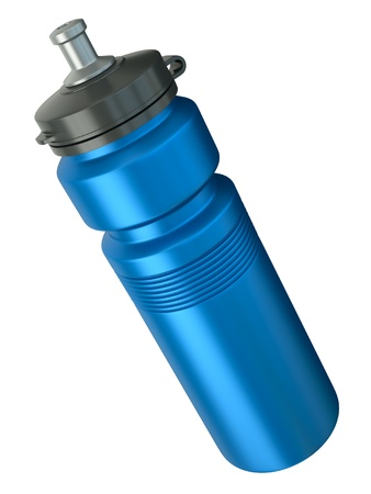 Blue sports water bottle. 3D render.
