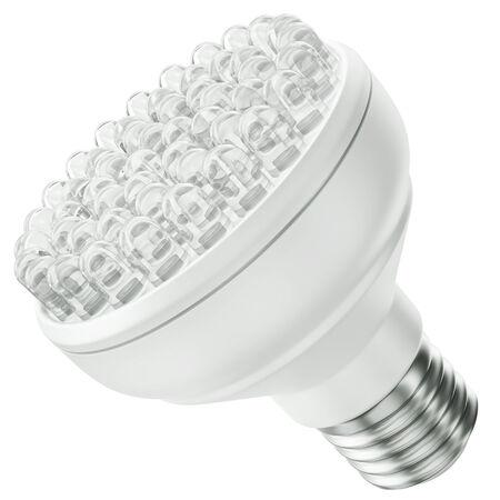 led bulb: Energy efficient LED bulb isolated on a white background  3D render  Stock Photo