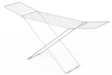 drying: Empty drying rack, 3D rendered illustration
