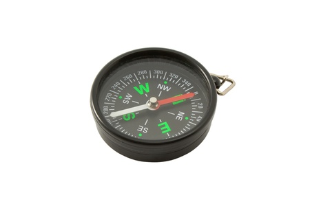 a picture of the compass, isolated on a white background photo