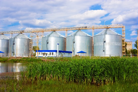 Agricultural grain elevator building for corn storage Stock Photo - 18656075