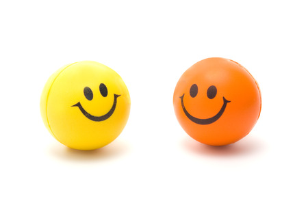 character traits: This two smileys, Isolated on white