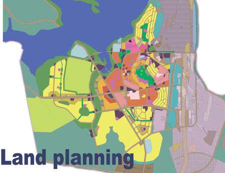 urban planning: land, planning, plan, city, urban, landscape, drawing, village, color