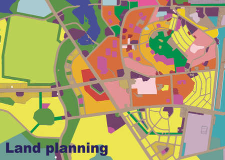 geodesy: land, planning, plan, city, urban, landscape, drawing, village, color