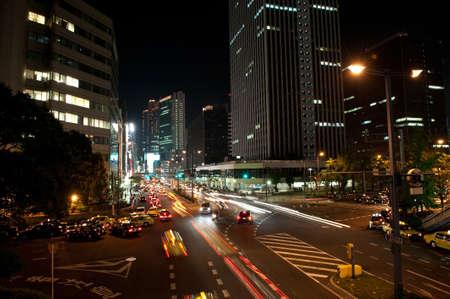 night streets in osaka japan