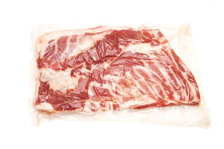Fresh meat chest in vacuum Фото со стока