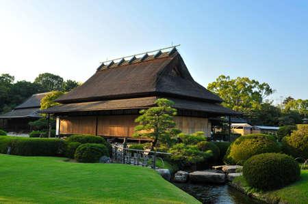 Japanese house in koishikawa korakuen garden in Okayama