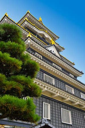 okayama: castle in okayama japan Editorial