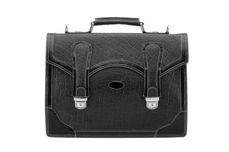 One portfolio leather on the white background