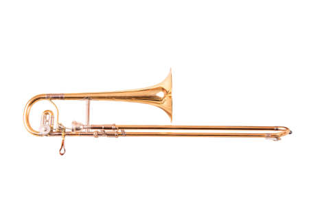 One Trombone alto on white background