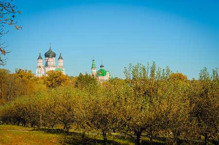 panteleimon: Image of St. Panteleimon Cathedral in Feofaniya, Kiev in autumne Stock Photo