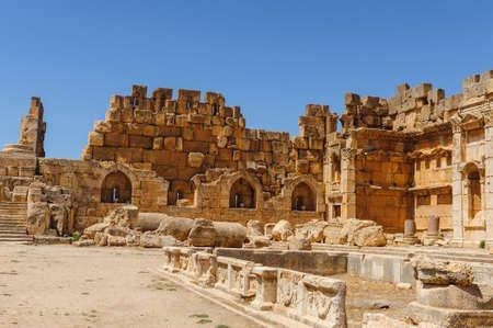Baalbek Ancienne ville au Liban.Héliopolis complexe de temples. Près de la frontière avec la Syrie.remains Banque d'images - 92174241