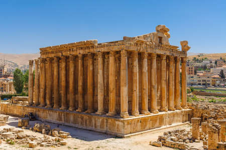 Baalbek Ancient city in Lebanon.Heliopolis temple complex.near the border with Syria. Фото со стока