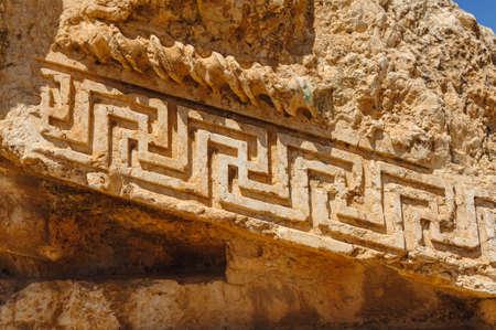Baalbek Ancienne ville au Liban.Héliopolis complexe de temples. Près de la frontière avec la Syrie.remains Banque d'images - 92052444